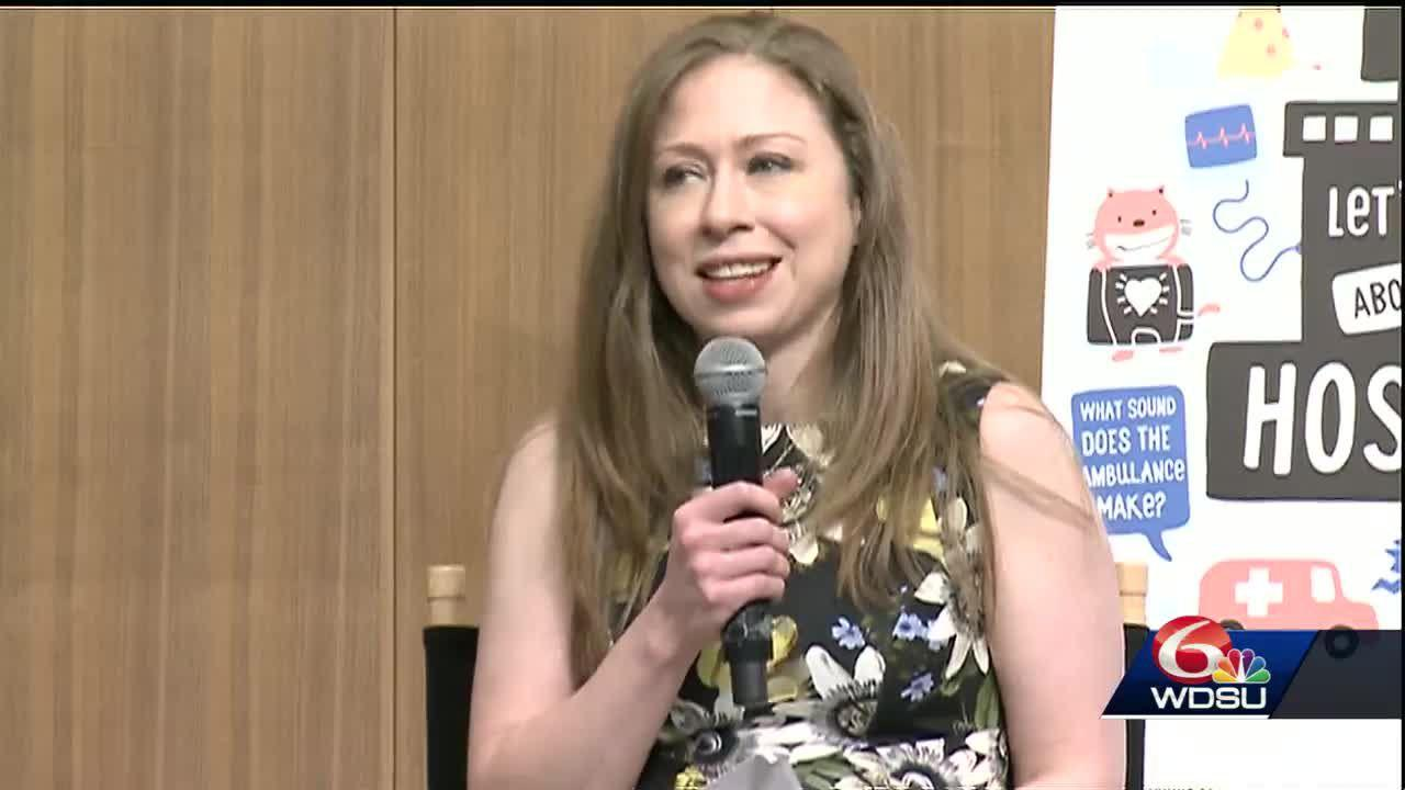 "Chelsea Clinton visits New Orleans to launch ""Talking is Teaching"" initiative."