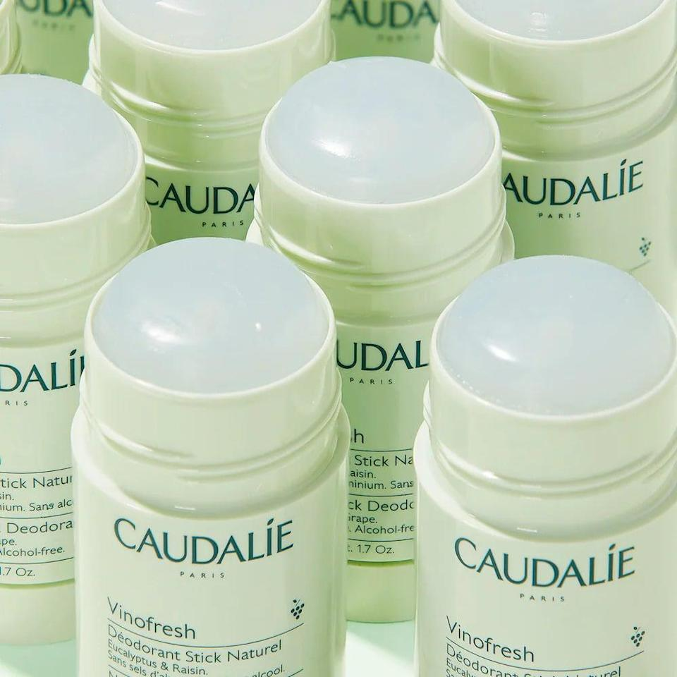 <p>Take the leap and try out the long-wearing <span>Caudalie Vinofresh Natural Aluminum-Free Deodorant</span> ($15). It has a fresh, eucalyptus scent.</p>