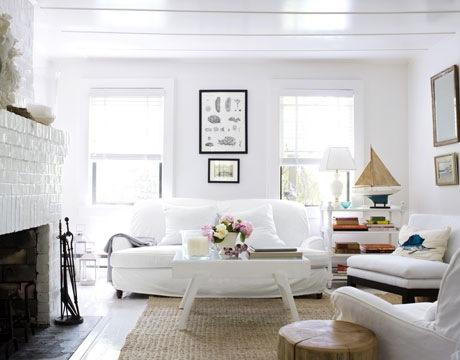 Natural light helps create more spacious illusions, so connect indoors and outdoors with windows to create more depth to the room. If there is not enough natural light then avoid thick curtains as they will worsen the situation. If the outdoors scenery isn't what you like, add flower pots to hide it from eye sight.