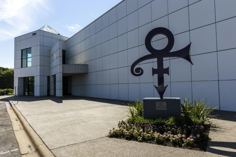 """The """"love"""" symbol outside of Paisley Park, Prince's home and studio in Chanhassen, Minnesota, which now offers tours"""