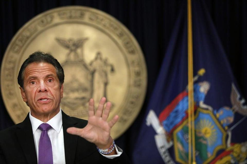 New York state Gov. Andrew Cuomo speaks at a news conference on September 08, 2020 in New York City. (Photo by Spencer Platt/Getty Images)