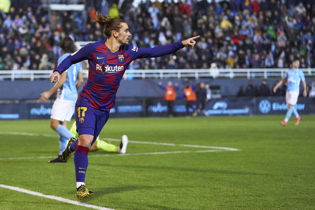 Antoine Griezmann's second-half goals spared Barcelona from true embarrassment. (Photo by Quality Sport Images/Getty Images)