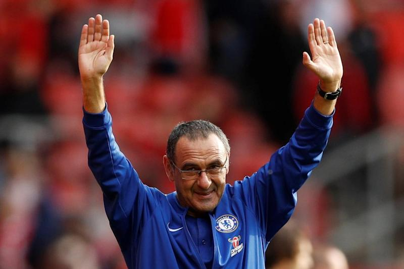 Unbeaten start: Chelsea are yet to lose a competitive game under Sarri (REUTERS)