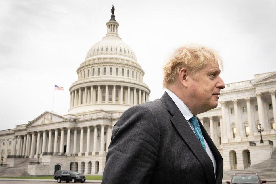 Prime Minister Boris Johnson at the Capitol Building in Washington (Stefan Rousseau/PA) (PA Wire)