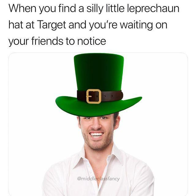 "<p>If you're not wearing an oversized leprechaun novelty hat, then you're doing St. Paddy's Day all wrong. </p><p><a href=""https://www.instagram.com/p/Butj7Qsl7wO/"" rel=""nofollow noopener"" target=""_blank"" data-ylk=""slk:See the original post on Instagram"" class=""link rapid-noclick-resp"">See the original post on Instagram</a></p>"