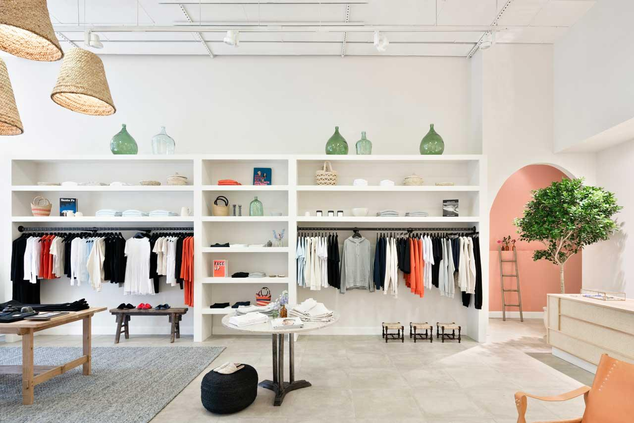 <p>Kotn was founded in 2015 by Mackenzie Yeates, Rami Helali, and Benjamin Sehl, centering on a line of elevated basics. They opened their first store in the U.S. on August 10. (Photo: Will Ellis/courtesy of Kotn)<br />Location: 112 Mercer Street New York, NY 10012 </p>