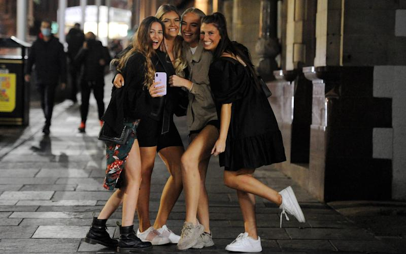 Revellers in Newcastle - North News