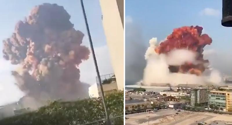 Video of the explosion began to surface online shortly after. Source: Storyful/ Twitter