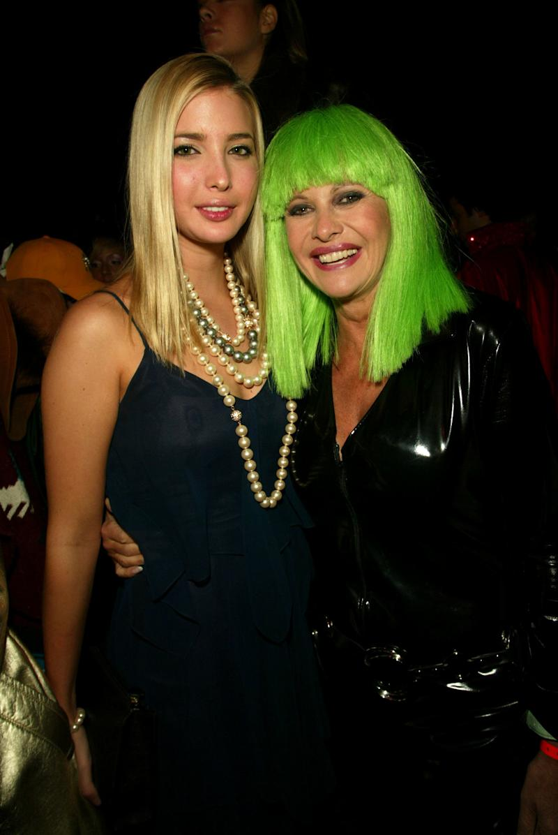 Ivana Trump with her daughter Ivanka, who just turned 21, at Dolce & Gabbana's Halloween Party at Cipriani 42nd Street in New York City on Oct. 31, 2002. (Evan Agostini via Getty Images)