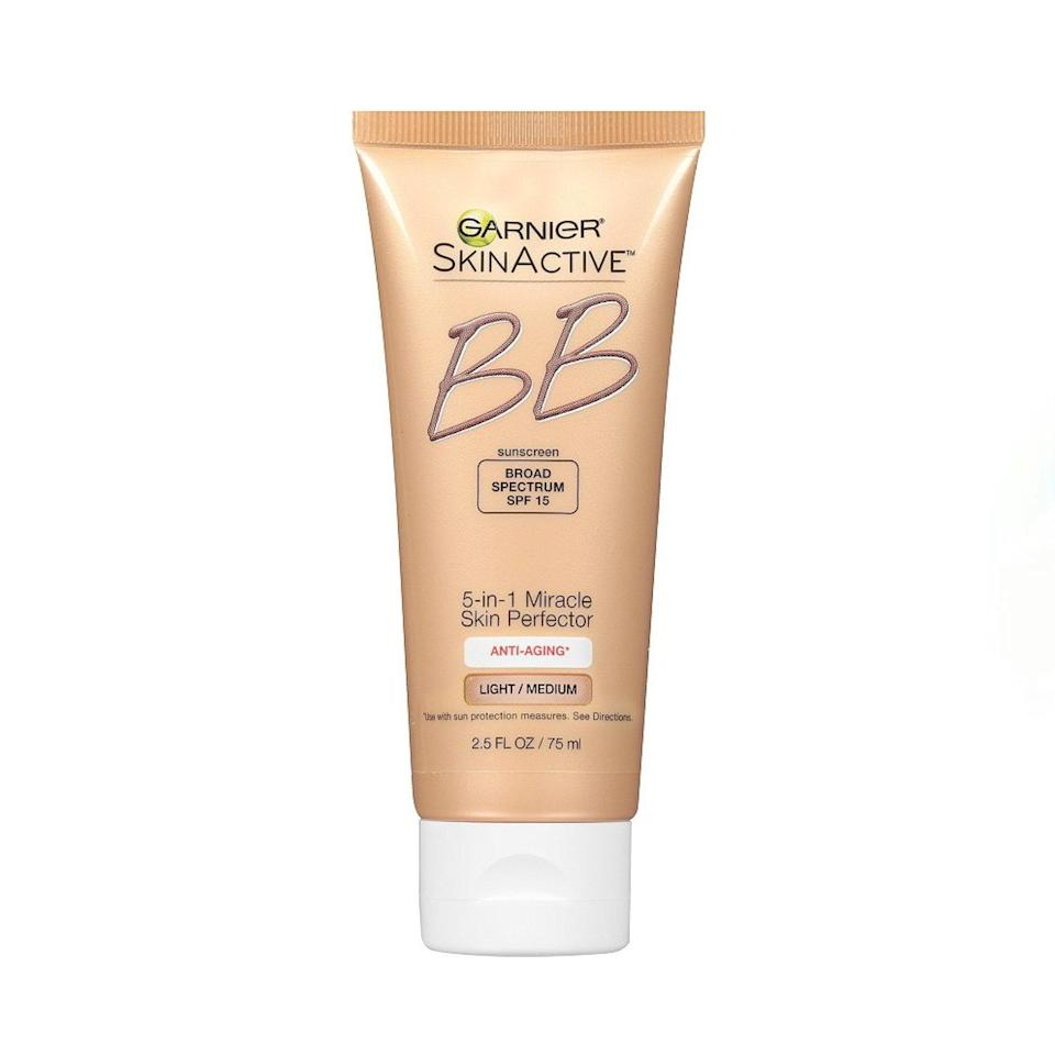 """This was my go-to in high school, and I stand by it. It's much thicker than other tinted moisturizers I've used, so it provides pretty decent coverage. It feels really nice and hydrating on my skin, and I definitely appreciate the anti-aging ingredients more now than I did 10 years ago. The only drawback is it only has one shade. —<em>B.C.</em> $15, Garnier. <a href=""""https://shop-links.co/1739243249313064900"""" rel=""""nofollow noopener"""" target=""""_blank"""" data-ylk=""""slk:Get it now!"""" class=""""link rapid-noclick-resp"""">Get it now!</a>"""