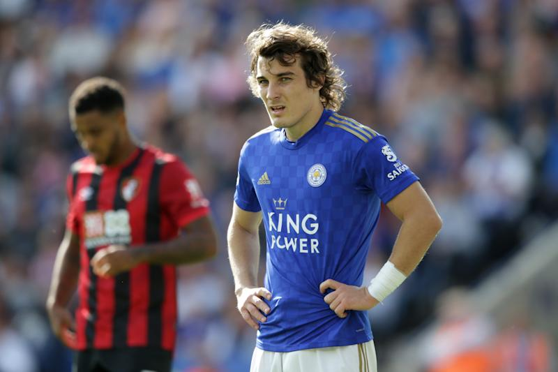 LEICESTER, ENGLAND - AUGUST 31: Caglar Soyuncu of Leicester City during the Premier League match between Leicester City and AFC Bournemouth at The King Power Stadium on August 31, 2019 in Leicester, United Kingdom. (Photo by Robin Jones - AFC Bournemouth/AFC Bournemouth via Getty Images)