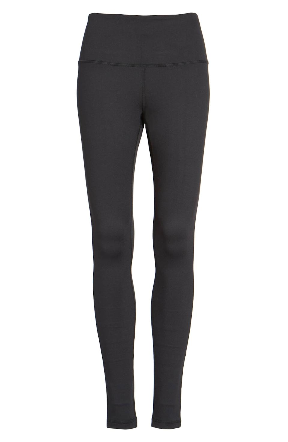 """<strong><h3>Zella: The Essential Legging</h3></strong> <br>Few legging brands see as much public praise as Zella. The Live In high-waist leggings tout moisture-wicking technology great for running at the gym or running errands.<br><br><strong>The hype:</strong> 4.7 out of 5 stars and 6,286 reviews on Nordstrom<br><br><strong>What they're saying:</strong> """"These leggings really live up to their """"live in"""" name. They are so comfortable, I didn't want to take them off! (I actually wore them two days in a row.) The material is super buttery soft and thicker so you don't have to worry about underwear showing through. Also, the little pocket in the front is perfect for keys, smaller phones (no Iphone7 plus), cash—basically anything you don't want to/can't carry. I have heard complaints about them being too hot, but I have worn them in 90+ degree weather and didn't feel like they were uncomfortable or unbearably hot. They are super durable and I am sure they will last me a long time."""" - BRD975, Nordstrom Review<br><br><strong>Zella</strong> Live In High Waist Leggings, $, available at <a href=""""https://shop.nordstrom.com/s/zella-live-in-high-waist-leggings/4312529/full"""" rel=""""nofollow noopener"""" target=""""_blank"""" data-ylk=""""slk:Nordstrom"""" class=""""link rapid-noclick-resp"""">Nordstrom</a><br><br><br><br><br>"""
