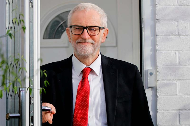 Disaster: Jeremy Corbyn leaves him home following Labour's heavy defeat: AFP via Getty Images