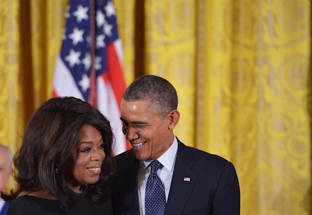 In 2013, President Barack Obama awarded Oprah the Presidential Medal of Freedom for her philanthropy. (Photo: Getty Images)