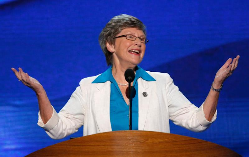 Sister Simone Campbell, the leader of the Nuns on the Bus, spoke at the 2012 Democratic National Convention. (Photo: Jason Reed / Reuters)