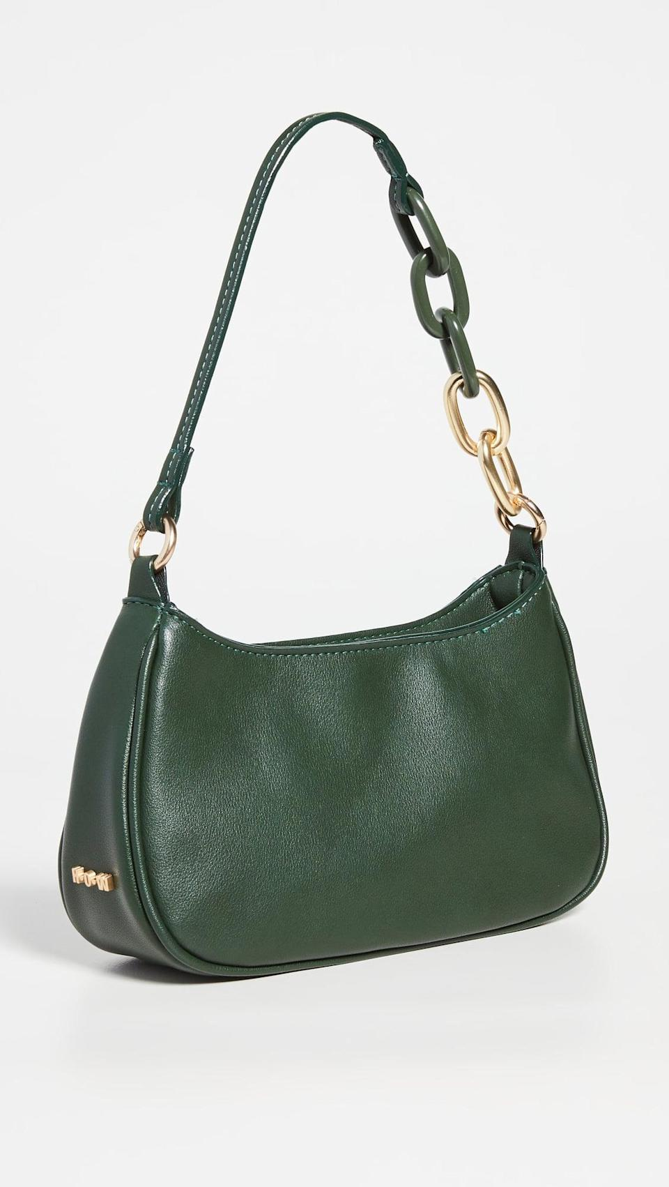 <p>This green <span>House of Want H.O.W. We Evolve Baguette</span> ($88) is so fun. It can be worn as a shoulder bag or crossbody, which we love.</p>