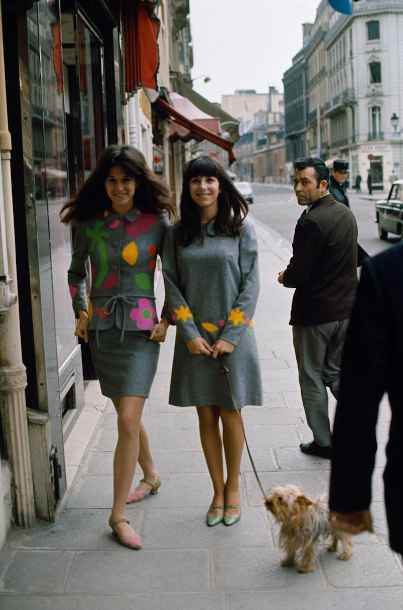 Mia Fonssagrives and Vicky Tiel in Paris, 1966.