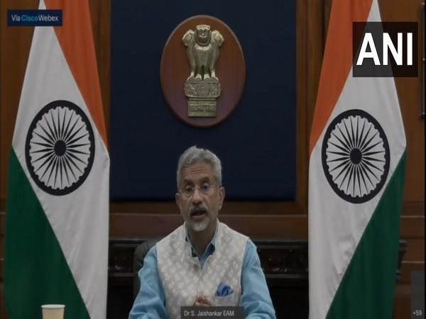 EAM S Jaishankar speaking at the 1st edition of Indo-Pacific Business Summit (ANI)