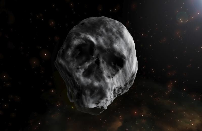 Skull-shaped asteroid is not headed for Earth this Halloween