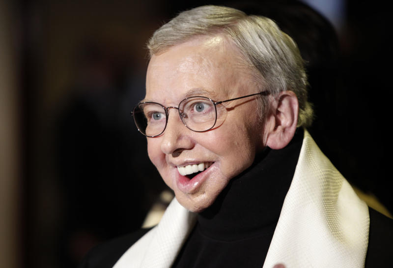 FILE - This Jan. 2009 file photo shows film critic and author Roger Ebert, recipient of the Honorary Life Member Award, at the Directors Guild of America Awards  in Los Angeles. The Chicago Sun-Times is reporting that its film critic Roger Ebert died on Thursday, April 4, 2013. He was 70. (AP Photo/Matt Sayles, file)