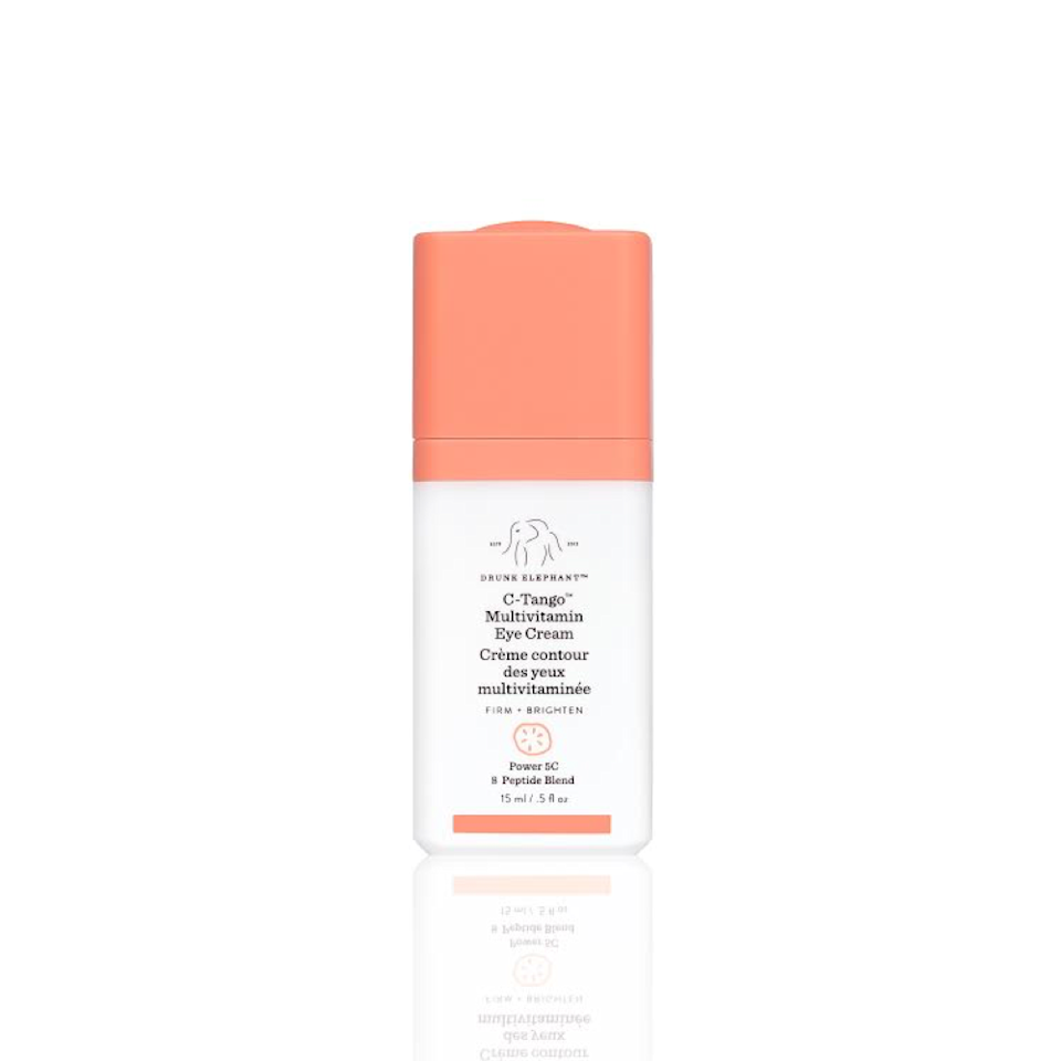 """Drunk Elephant's C-Tango Multivitamin Eye Cream contains not one, but <em>five</em> different forms of vitamin C, plus eight different peptides, making it an under-eye brightening powerhouse. And as with all Drunk Elephant products, it's free from artificial chemicals, fragrances, parabens... you get the gist. $64, Sephora. <a href=""""https://shop-links.co/1735587780882505374"""" rel=""""nofollow noopener"""" target=""""_blank"""" data-ylk=""""slk:Get it now!"""" class=""""link rapid-noclick-resp"""">Get it now!</a>"""
