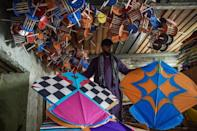 Kite sales have soared since the Taliban were ousted and thousands of colourful kites can be seen in Afghanistan's skies when the wind is right