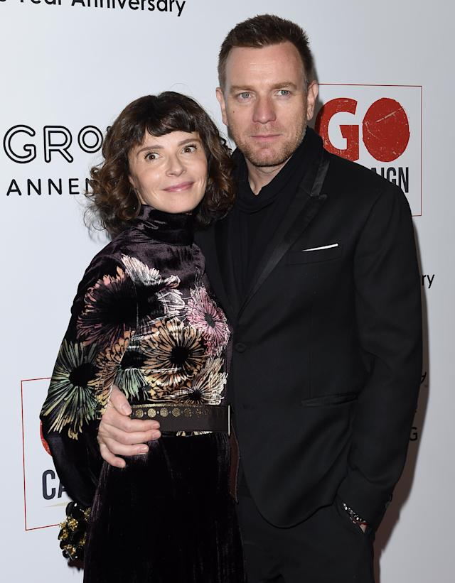 Eve Mavrakis and Ewan McGregor in November 2016. (Photo: Getty Images)
