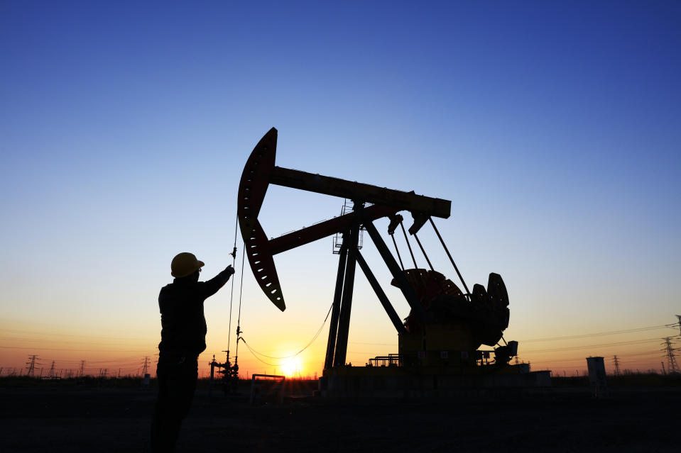 Brent crude is up 80% since the end of October last year, driven by optimism over the vaccine rollouts and production cuts. Photo: Getty