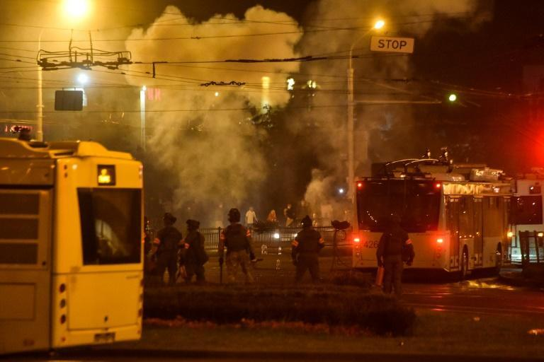 Police used rubber bullets, stun grenades and tear gas