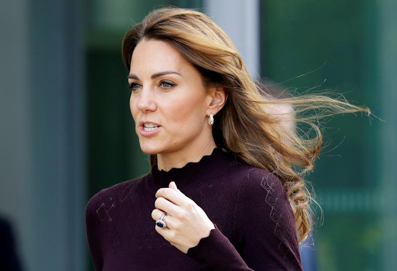 The Duchess of Cambridge visitsthe Angela Marmont Centre for UK Biodiversity at the Natural History Museum in London on Oct. 9. (Photo: POOL New / Reuters)