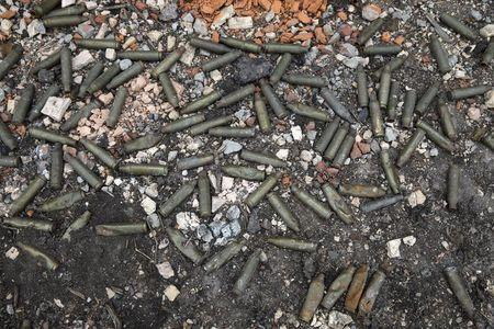 Bullet cartridges are seen on the ground at Donetsk airport, Ukraine, in this February 26, 2015 file photo. REUTERS/Baz Ratner/Files