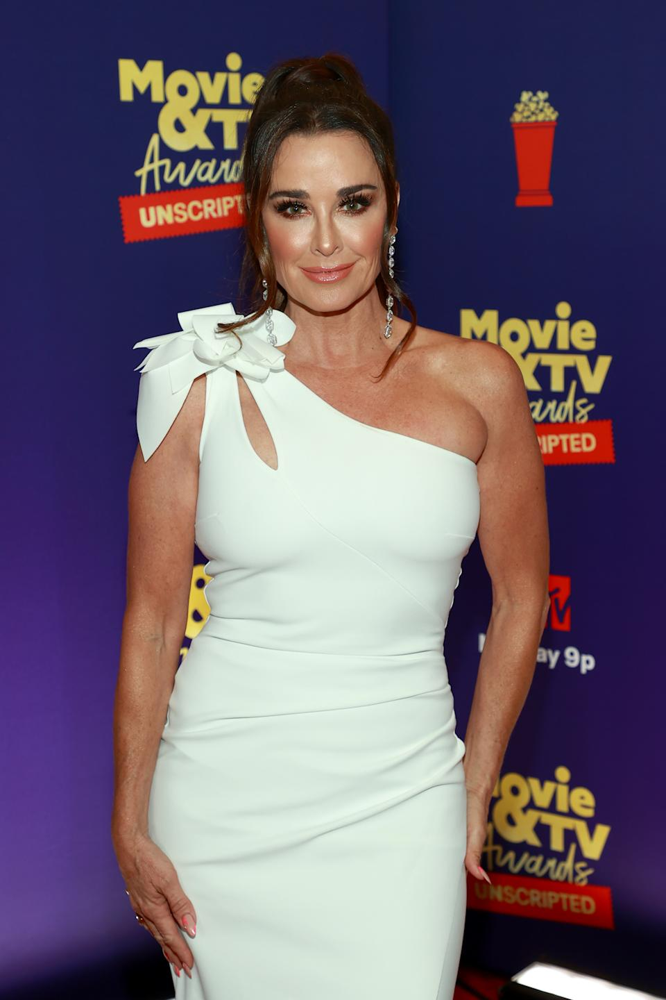 LOS ANGELES, CALIFORNIA - MAY 17: In this image released on May 17, Kyle Richards attends the 2021 MTV Movie & TV Awards: UNSCRIPTED in Los Angeles, California. (Photo by Matt Winkelmeyer/2021 MTV Movie and TV Awards/Getty Images for MTV/ViacomCBS)