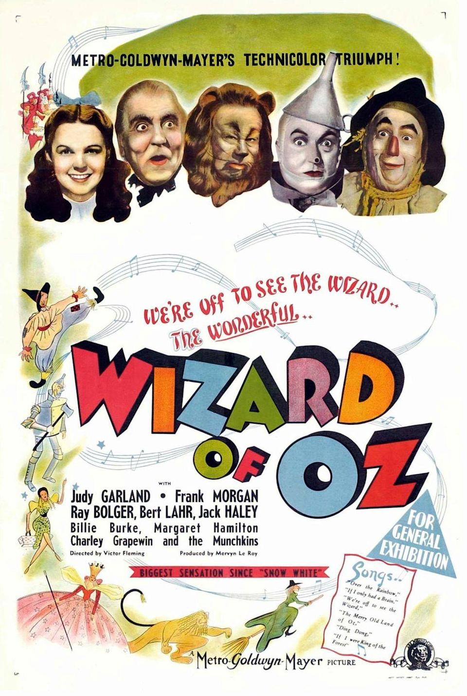"""<p>Let's start with the quintessential witch movie — and a film that's an absolute must-watch at any age. In <em>The Wizard of Oz</em>, little Dorothy from Kansas gets swept up in a tornado with her dog Toto and lands in Oz. The Good Witch and the Wicked Witch are central characters in her journey home.</p><p><a class=""""link rapid-noclick-resp"""" href=""""https://www.amazon.com/Wizard-Oz-Judy-Garland/dp/B002QRBB30?tag=syn-yahoo-20&ascsubtag=%5Bartid%7C10070.g.37360837%5Bsrc%7Cyahoo-us"""" rel=""""nofollow noopener"""" target=""""_blank"""" data-ylk=""""slk:WATCH NOW"""">WATCH NOW</a></p>"""