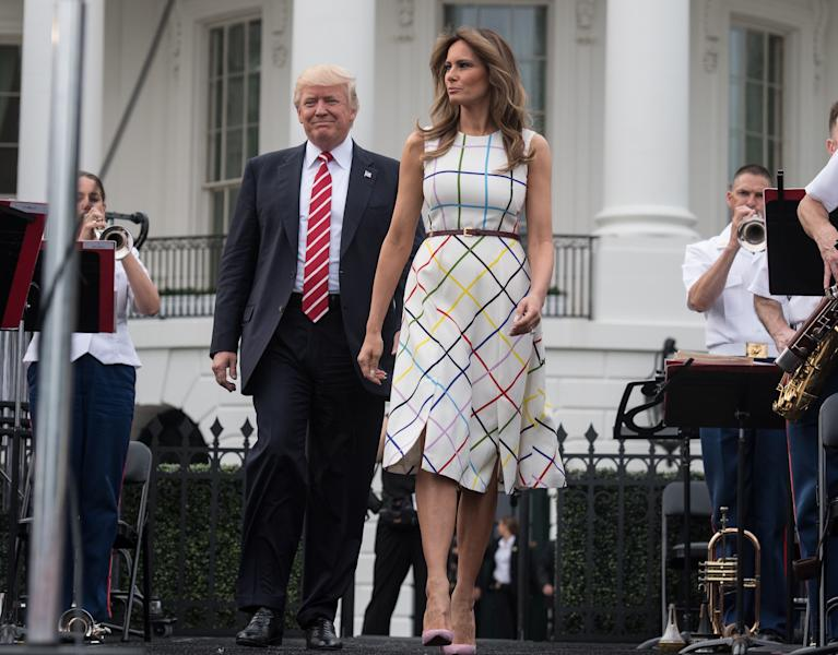 Trump Touts 'American Labor' With Photo Of Melania In Italian-Made Dress