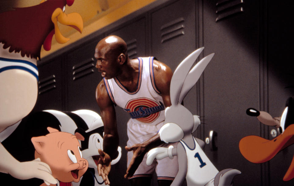 Pepe Le Pew played alongside Michael Jordan and the rest of the Looney Tunes in the original 'Space Jam,' but he's benched from the upcoming sequel, 'A New Legacy.' (Photo: Warner Bros/Courtesy Everett Collection)