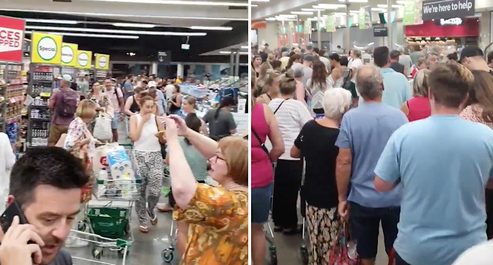 Supermarket chaos in Western Australia after lockdown ...
