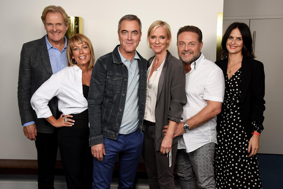 (L-R) Robert Bathurst, Fay Ripley, James Nesbitt, Hermione Norris, John Thomson and Leanne Best attend the 'Cold Feet' series 7 special screening at The Mondrian Hotel on September 7, 2017 in London, England.  (Photo by Dave J Hogan/Dave J Hogan/Getty Images)