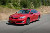 """<p>A new Camry arrived in 2012 without much fanfare. The styling was new but unexciting, and the powertrains were mostly carryover, other than the hybrid drivetrain, which received updates and improved efficiency numbers. The seventh-generation Camry was the first not to offer a manual transmission; the entire lineup came standard with an automatic transmission. The interior was a touch more spacious and was one of the first Toyotas to offer the brand's new Entune infotainment system with smartphone connectivity functions. Sales were strong, but a milquetoast response from critics—we placed the Camry fifth out of six mid-size sedans in a <a href=""""https://www.caranddriver.com/reviews/comparison-test/a15120690/2012-2013-family-sedans-compared/"""" rel=""""nofollow noopener"""" target=""""_blank"""" data-ylk=""""slk:2012 comparison test"""" class=""""link rapid-noclick-resp"""">2012 comparison test</a>—prompted Toyota to take action.</p>"""