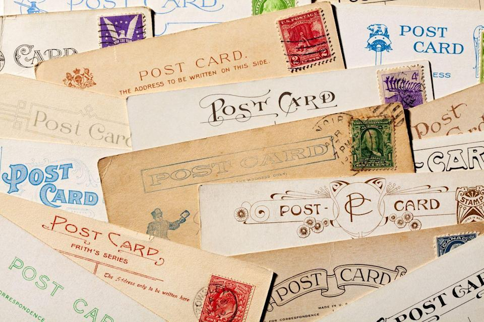 """<p>While no one will probably buy your letters, they might purchase your postcards, especially if they're old, rare, and in good condition. The world's most expensive postcard, according to <a href=""""https://www.guinnessworldrecords.com/world-records/most-expensive-postcard-sold-at-auction?fb_comment_id=610953095676580_1688242687947610"""" rel=""""nofollow noopener"""" target=""""_blank"""" data-ylk=""""slk:Guinness World Records"""" class=""""link rapid-noclick-resp"""">Guinness World Records</a>, dates back to 1840 and was sold in London in 2002 for more than $45,000.</p>"""