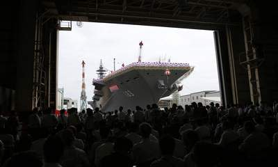 Japan Unveils Largest Warship Since WWII