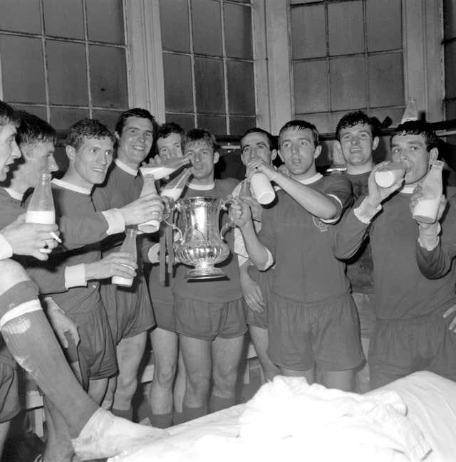 Milk was a popular drink among footballers and was usually delivered in 1966