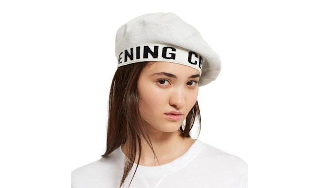 "<p>Logo beret, $75, <a href=""https://www.openingceremony.com/womens/opening-ceremony/logo-beret-ST202841.html?gender=w#popup-pdp-preview"" rel=""nofollow noopener"" target=""_blank"" data-ylk=""slk:openingceremony.com"" class=""link rapid-noclick-resp"">openingceremony.com</a> </p>"