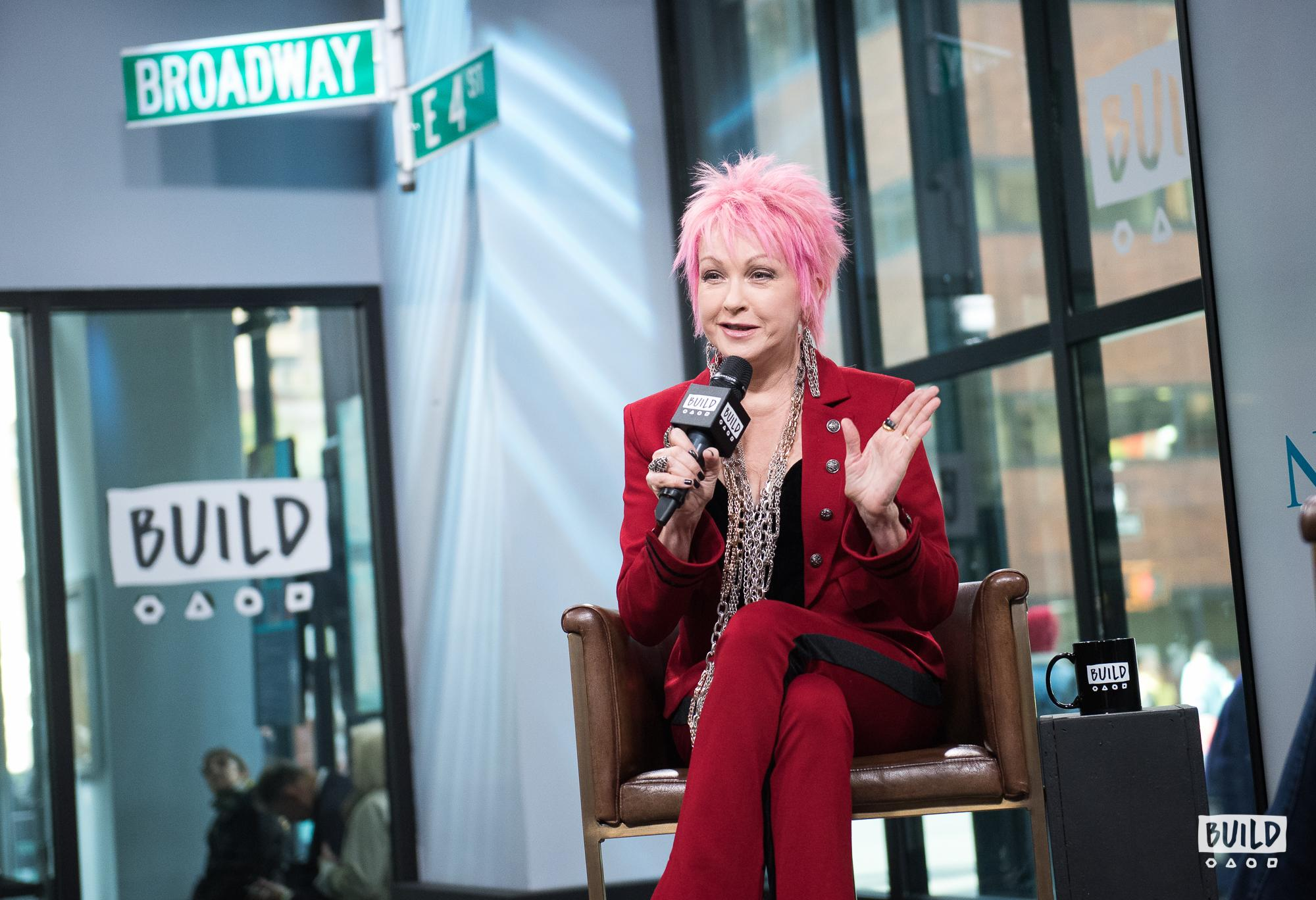 Cyndi Lauper visits Build Studio on Nov. 9, 2017. (Photo by Mike Pont)