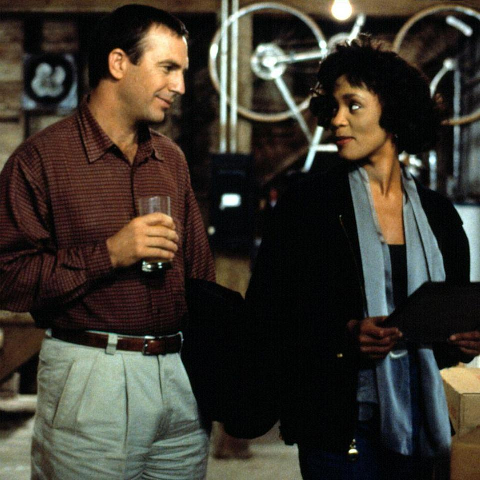 """<p>Yes, the on-screen romance between <em>Bodyguard</em></p><p>leads Whitney Houston and Kevin Costner is palpable. And, sure, the film, though choking on melodramatic goo at times, is a nostalgic and fun re-watch. But the soundtrack is pure honey. Heavily featuring the vocal gymnastics of one of the greatest singers of all time, Miss Houston (""""<a href=""""https://www.youtube.com/watch?v=3JWTaaS7LdU"""" rel=""""nofollow noopener"""" target=""""_blank"""" data-ylk=""""slk:I Will Always Love You"""" class=""""link rapid-noclick-resp"""">I Will Always Love You</a>,"""" """"<a href=""""https://www.youtube.com/watch?v=zpr2x26FDAg"""" rel=""""nofollow noopener"""" target=""""_blank"""" data-ylk=""""slk:I Have Nothing"""" class=""""link rapid-noclick-resp"""">I Have Nothing</a>,"""" """"<a href=""""https://www.youtube.com/watch?v=ll-tzVcqVY4"""" rel=""""nofollow noopener"""" target=""""_blank"""" data-ylk=""""slk:Run to You"""" class=""""link rapid-noclick-resp"""">Run to You</a>""""), and a few others (Joe Cocker's """"<a href=""""https://www.youtube.com/watch?v=T-eAy5cN2c0"""" rel=""""nofollow noopener"""" target=""""_blank"""" data-ylk=""""slk:Trust in Me"""" class=""""link rapid-noclick-resp"""">Trust in Me</a>,"""" Lisa Stanfield's """"<a href=""""https://www.youtube.com/watch?v=7csCmCy9_N8"""" rel=""""nofollow noopener"""" target=""""_blank"""" data-ylk=""""slk:Someday"""" class=""""link rapid-noclick-resp"""">Someday</a> (I'm Coming Back)""""), <em>The Bodyguard</em> soundtrack is the biggest reason to hit play on this 1992 romantic thriller. </p><p><a class=""""link rapid-noclick-resp"""" href=""""https://www.amazon.com/Bodyguard-Kevin-Costner/dp/B002R5HR70?tag=syn-yahoo-20&ascsubtag=%5Bartid%7C10056.g.32872244%5Bsrc%7Cyahoo-us"""" rel=""""nofollow noopener"""" target=""""_blank"""" data-ylk=""""slk:Watch and Listen"""">Watch and Listen </a></p>"""