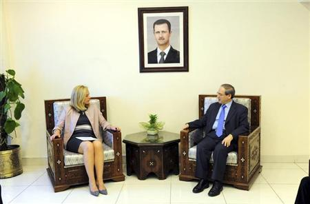 Syria's Deputy Foreign Minister Miqdad meets Kaag, Special Coordinator for the OPCW-UN joint mission on eliminating Syria's chemical weapons programme, in Damascus