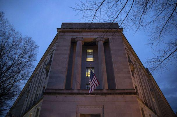 PHOTO: The Department of Justice stands in the early hours of March 22, 2019 in Washington, D.C. (Drew Angerer/Getty Images, FILE)