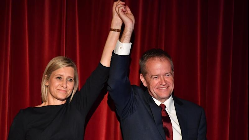 Labor's Susan Lamb, with Bill Shorten, is back as the MP for Longman after winning her by-election
