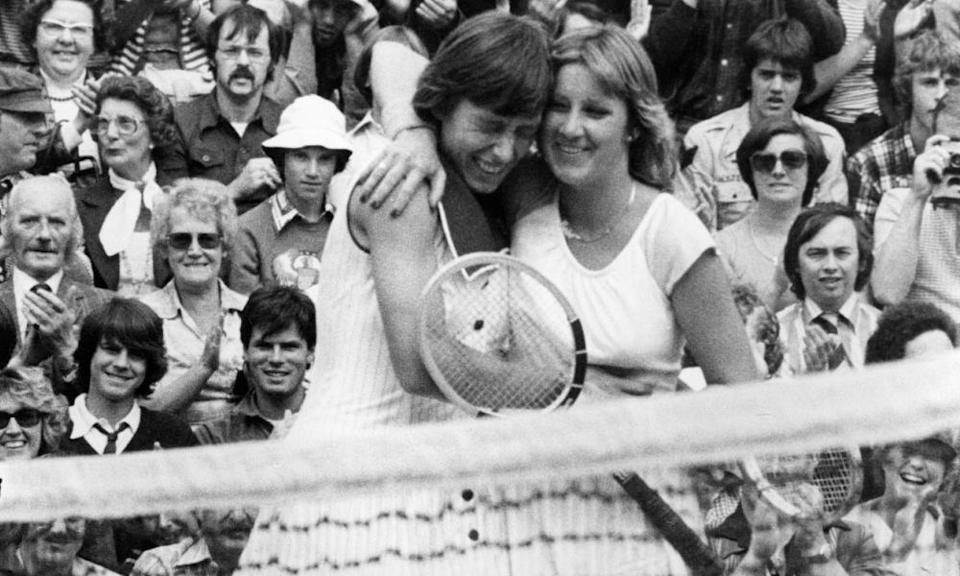 Martina Navratilova and Evert won 18 grand slam titles apiece as their rivalry dominated, and changed, women's tennis.