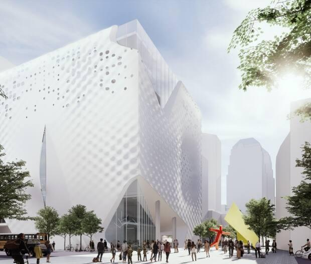 A conceptual image of the new, renovated Glenbow Museum. The museum is scheduled to close at the end of 2021 and reopen in late 2023 or early 2024. (Submitted by Glenbow Museum - image credit)