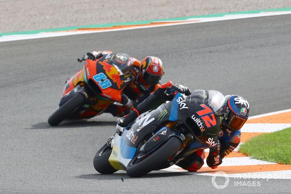 """Marco Bezzecchi, Sky Racing Team VR46, Jorge Martin, Red Bull KTM Ajo<span class=""""copyright"""">Gold and Goose / Motorsport Images</span>"""